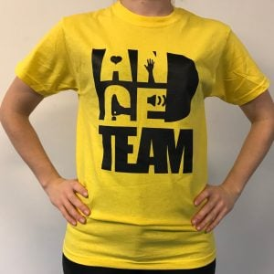 Danceteam yellow t-shirt